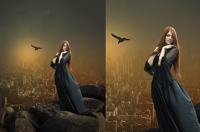 Flying Dress Photoshop Manipulation
