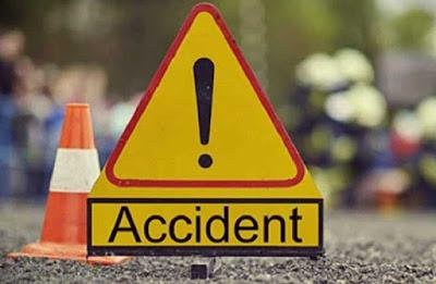 ट्रक दुचाकी अपघातात एक ठार दोन जखमी