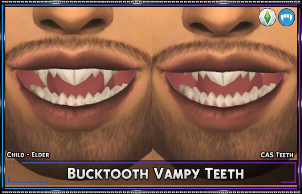 Bucktooth Vampy Teeth