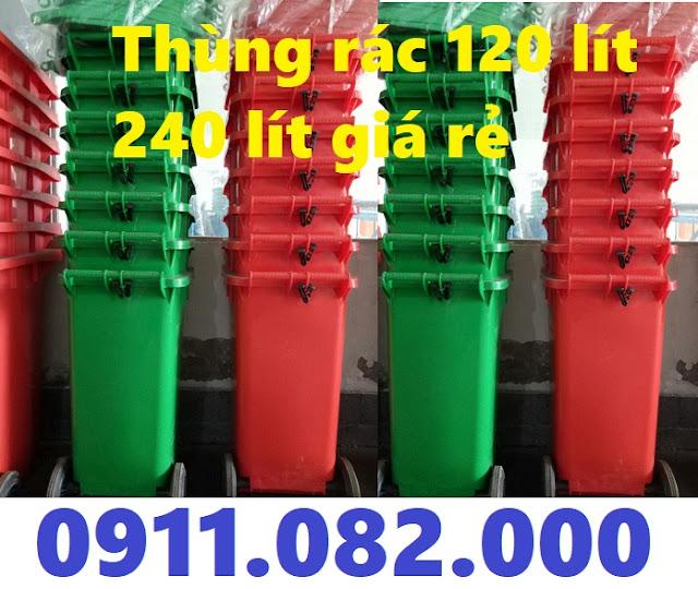 Địa điểm bán thùng rác 240 lít giá rẻ ở sóc trăng- thùng rác 120 lít 660 lít- 0911082000