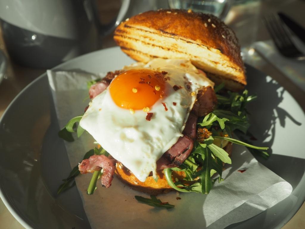 fried egg bacon brioche
