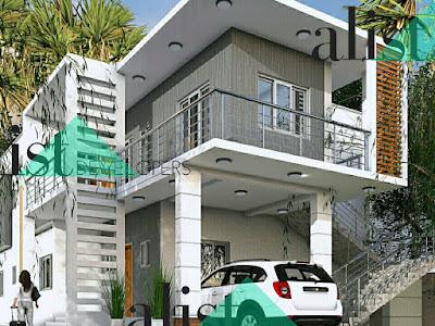 A Five Bedroom Duplex Design.