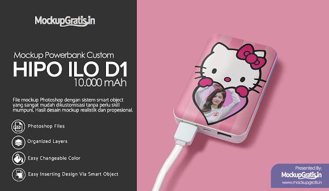 Mockup Powerbank Custom HIPO ILO D1 10000 mAh