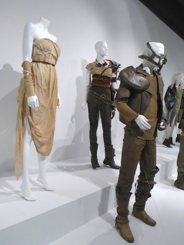 Hollywood Movie Costumes And Props Oscar Nominated Mad Max Fury Road Movie Costumes On Display