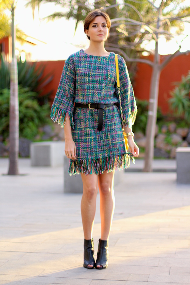 Street Fashion Tweed Blazer Woman