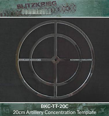 BKC-TT-20C   20cm circular Artillery concentration template