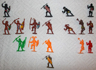 African Barers; African Bearers; African Natives; African Toy Figures; African Warrior Toy; African Warriors; Charbens; Clones; Copies; Hong Kong; Lone Star; Native Costumes; Past The Post; Piracies, Small Scale World; smallscaleworld.blogspot.com; Zulus;