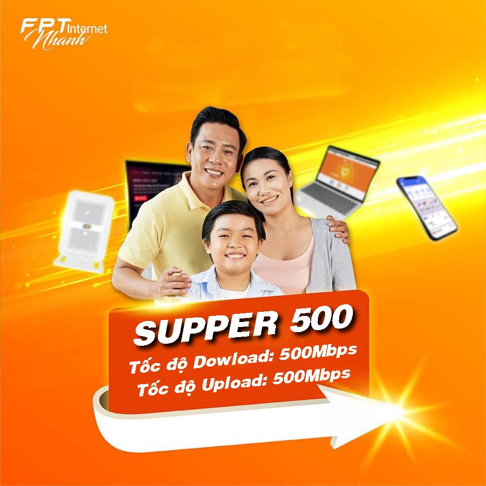 Internet cáp quang FPT cho doanh nghiệp Gói Supper 500Mbps