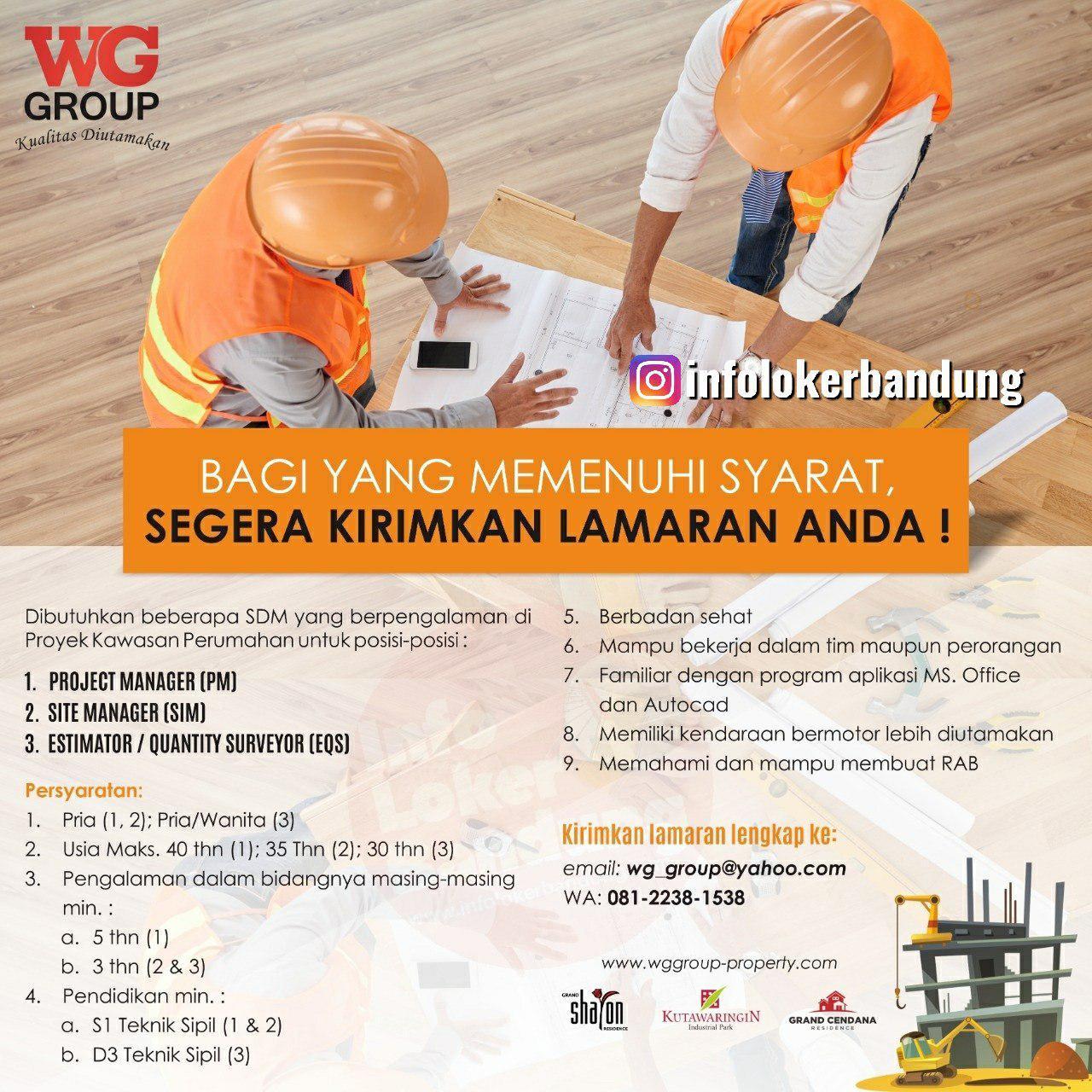 Lowongan Kerja WG Group Property Bandung Desember 2019