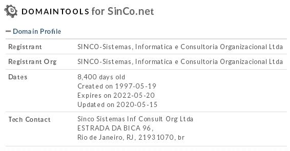 Domínio SINCO.NET completa 23 anos