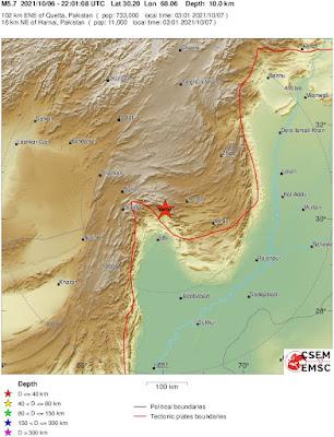 At least 20 killed as 5.7 magnitude earthquake hits southern Pakistan