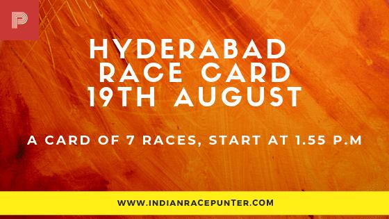 Hyderabad Race Card,  free indian horse racing tips, trackeagle,racingpulse