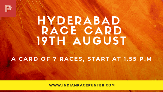 Hyderabad Race Card 19 August