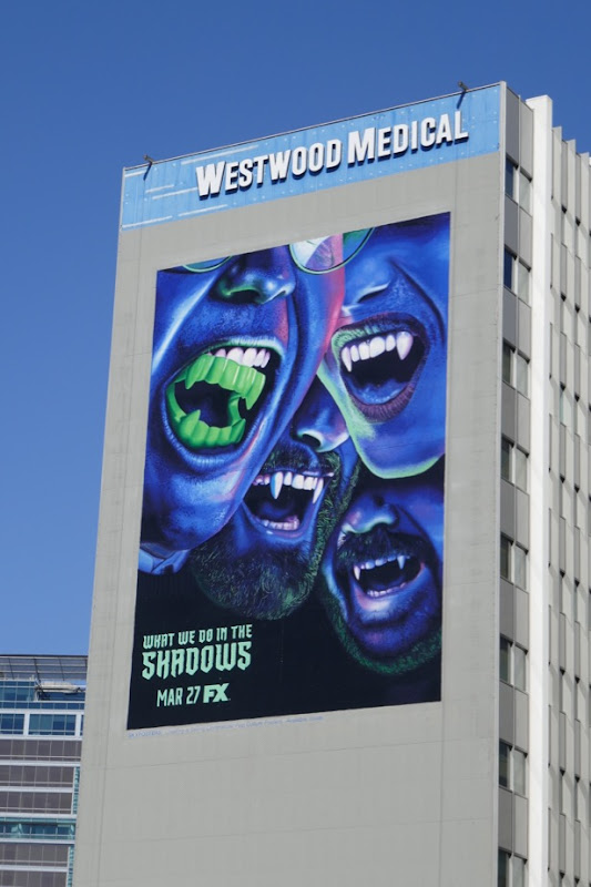 Giant What We Do In The Shadows series premiere billboard