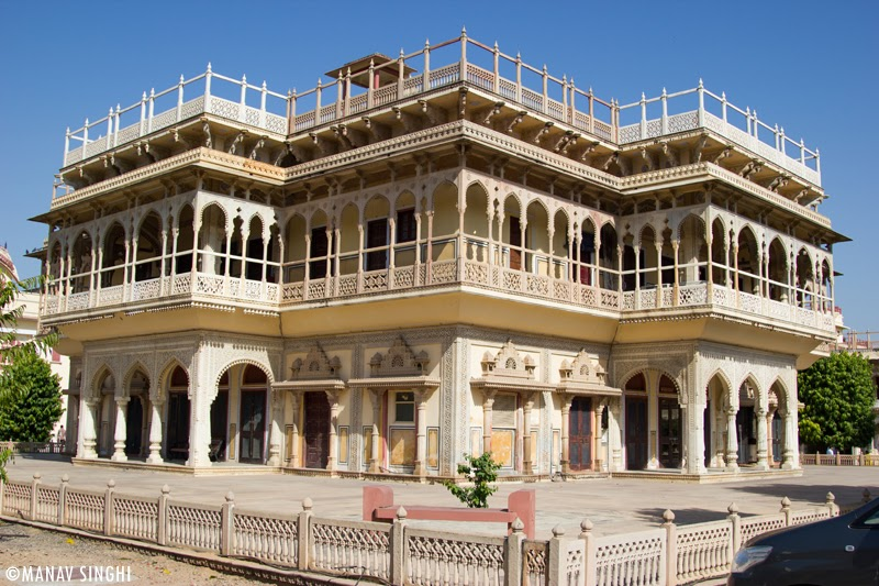 Mubarak Mahal, Jaipur at The City Palace, Jaipur.