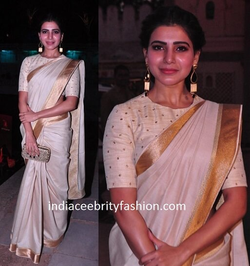 Samantha Ruth Prabhu in Shilpa Reddy Saree