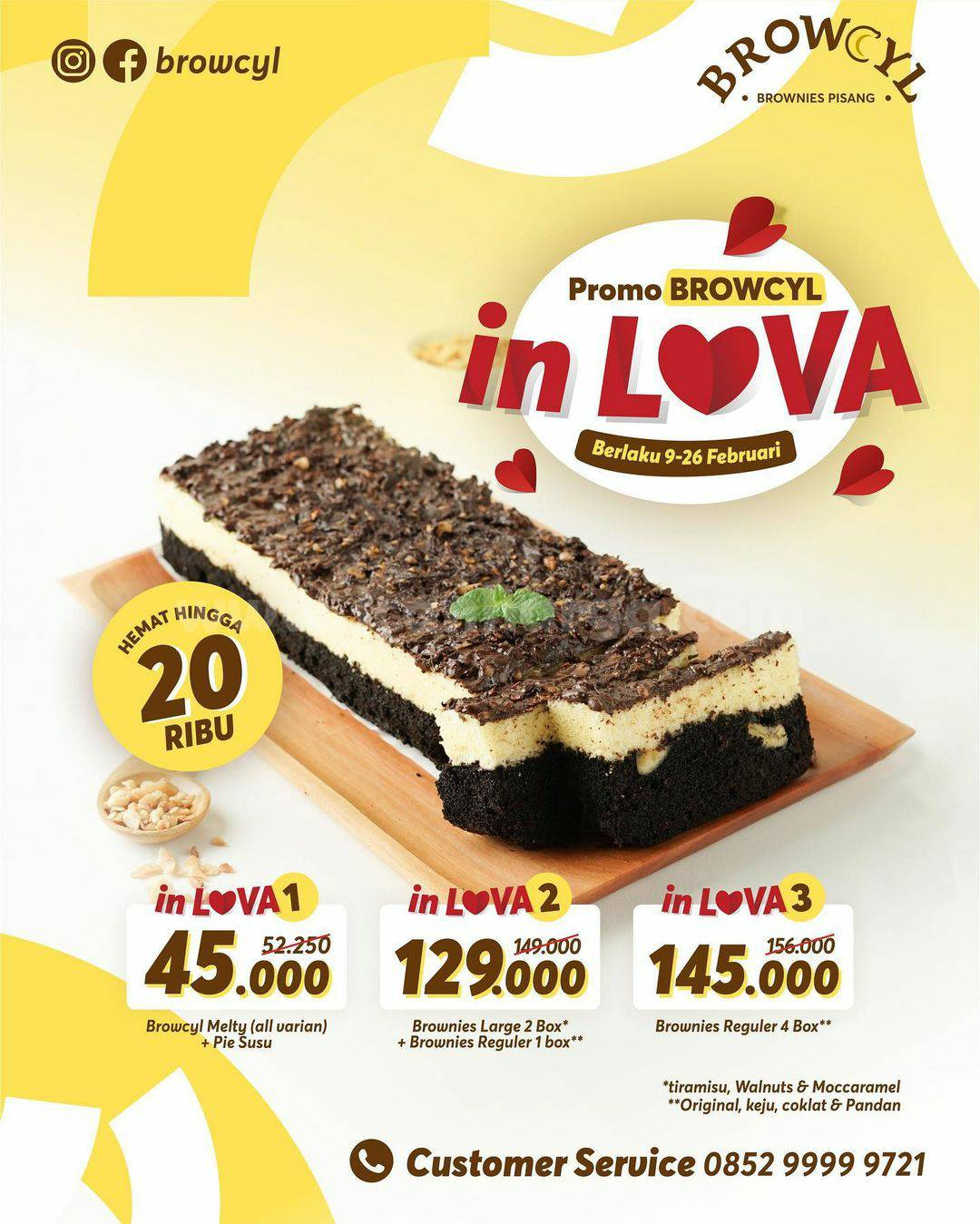 Promo BROWCYL Terbaru! harga Spesial Paket In-Lova hemat hingga 20Rb