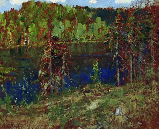 Исаак Ильич Левитан - Озеро в лесу