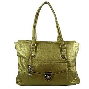 Bolsa Feminina Fellipe Krein Dourada. Cor metalizada, uma das fortes tendências para a temporada de inverno 2016.