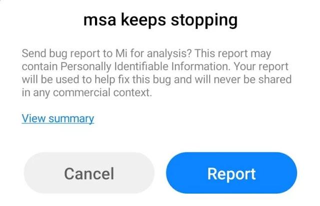 MSA Keeps Stopping