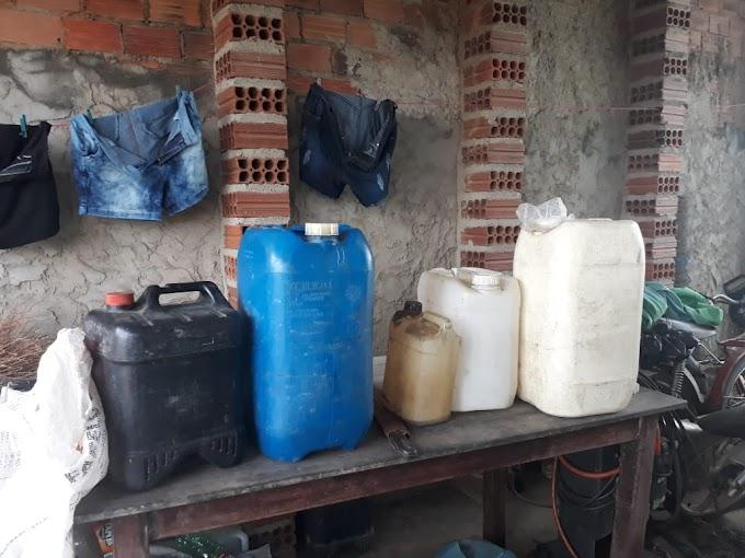 Polícia: Homem com 47 anos é preso em Flagrante por venda clandestina de combustível e crime ambiental em Cumaru.