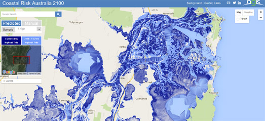 Interactive Map Of Australia.Maps Mania Sea Level Rise Australia