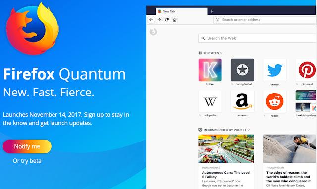 تنزيل متصفح Firefox Quantum للكمبيوتر والاندرويد والايفون