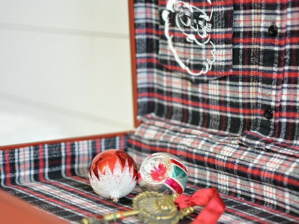 Flannel Lined Post-Delivery Box For Santa