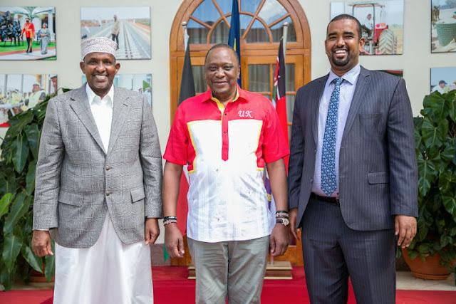 President Uhuru Kenyatta and Majority leader Aden Duale
