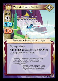 My Little Pony Wonderbolts Stadium Marks in Time CCG Card