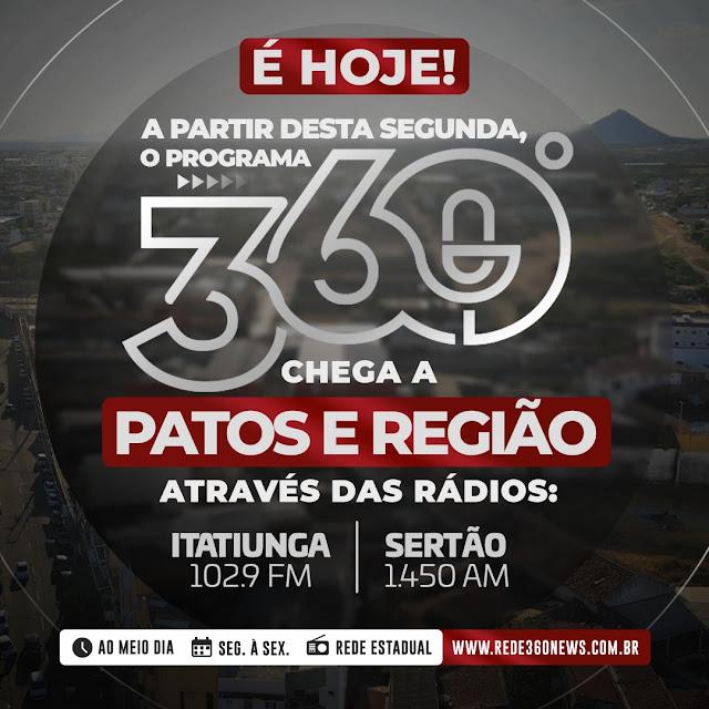 Sistema Itatiunga de Comunicação retransmitirá programa 360 Graus a partir desta segunda (30)
