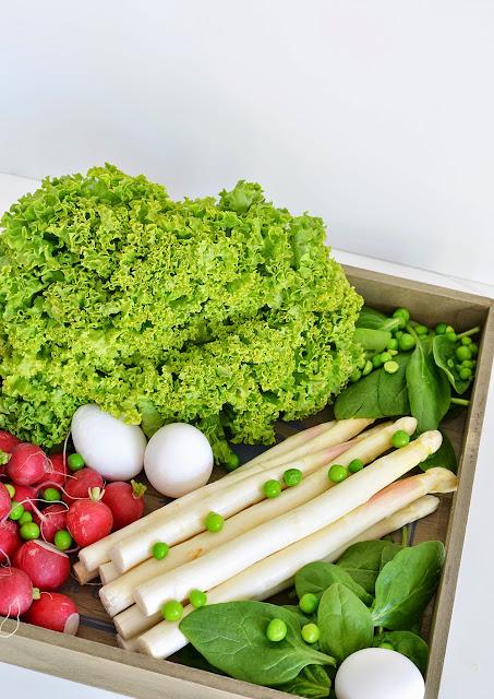 7xregional mit Rewe Regional Frühlingssalat mit Spargel und wachsweichem Ei