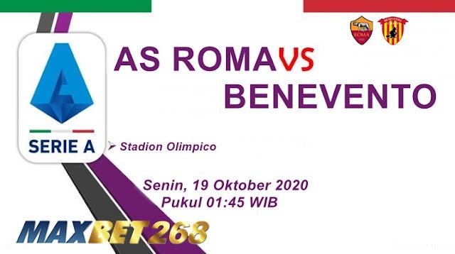 Prediksi AS Roma Vs Benevento, Senin 19 Oktober 2020 Pukul 01.45 WIB @ RCTI