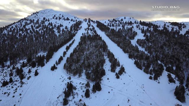 Μαίναλο: Το χιονοδρομικό κέντρο στο βουνό των θρύλων και των παραδόσεων (βίντεο+drone)
