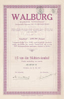 Founder's share in the Flemish textile company Walburg