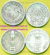 Sale Rupees 5 coins, 2 different, 50th Anniversary of United Nations, ILO, World of Work. Indian Coins
