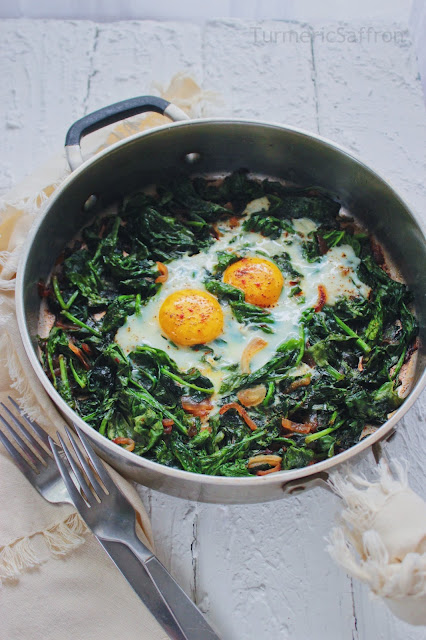 Iranian Spinach and Eggs