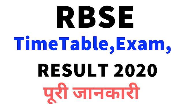 RBSE Board Exam 2020
