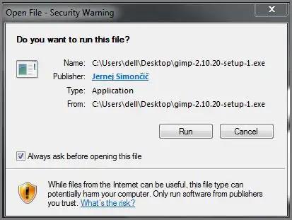 تثبيت برنامج جيمب Gimp للكمبيوتر