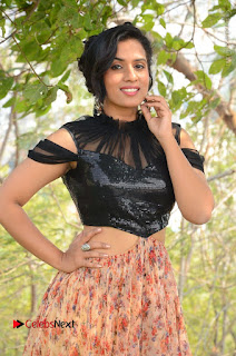 Actress Chetana Uttej Stills in Floral Long Skirt at Pichiga Nachav Movie Press Meet  0010.JPG