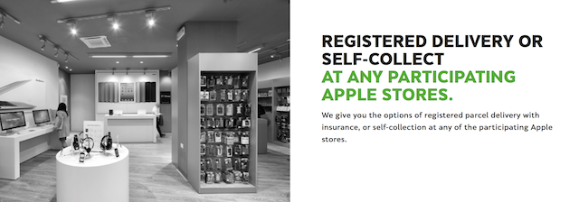 Choose for your new phone to be delivered or self collect at any participating apple stores for the iPhone