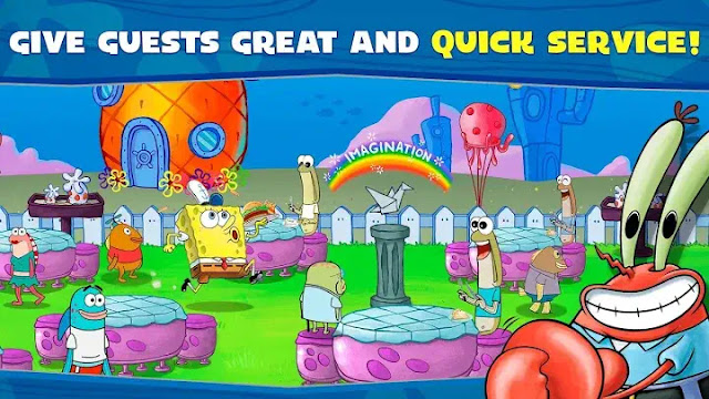 SpongeBob Krusty Cook-Off Game Features