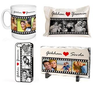 Film şeridi yastık kupa bardak telefon kapağı
