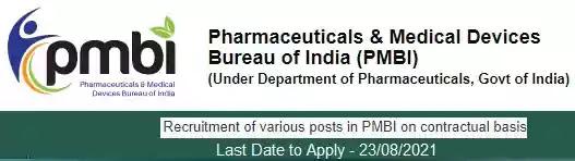 Job Vacancy Recruitment in PMBI Delhi 2021