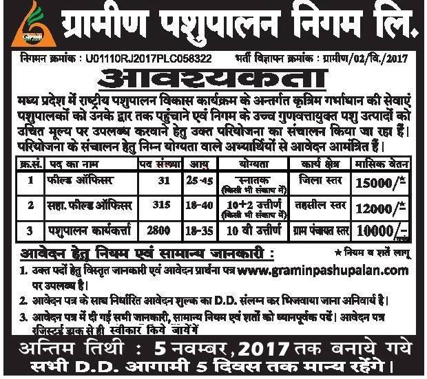 GPNL Recruitment 2017
