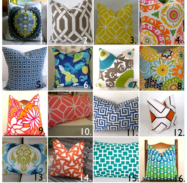Etsy Outdoor Pillow Roundup - House of Jade Interiors Blog