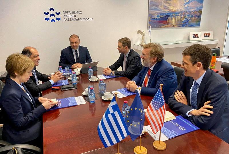Επίσκεψη Αμερικανών αξιωματούχων στο λιμάνι της Αλεξανδρούπολης