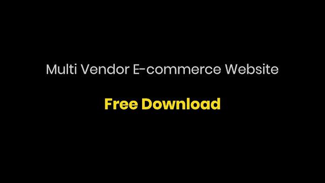 Multi Vendor E-Commerce Website with Django Free Project