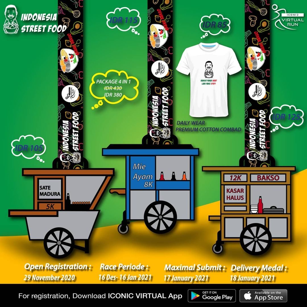 Iconic Virtual Run ∙ Indonesia Street Food Series • 2020