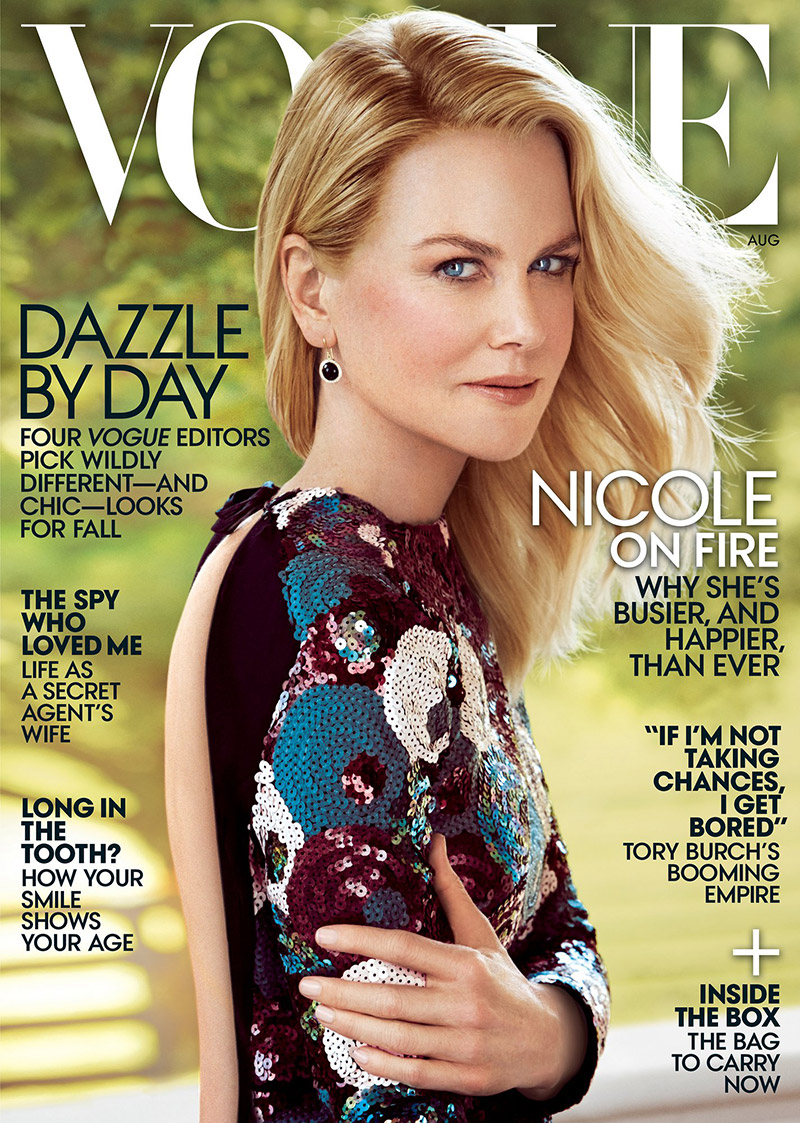 Nicole Kidman goes backless for the Vogue August 2015 cover